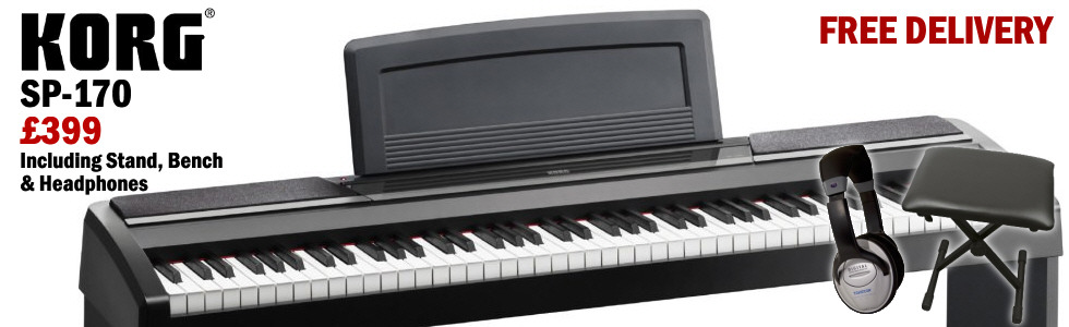 Korg SP170 only 399 including bench, headphones and delivery